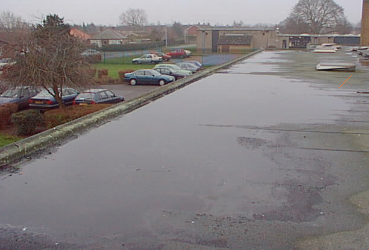 Improving Flat Roof Water Clearing & Drainage Falls - Bauder
